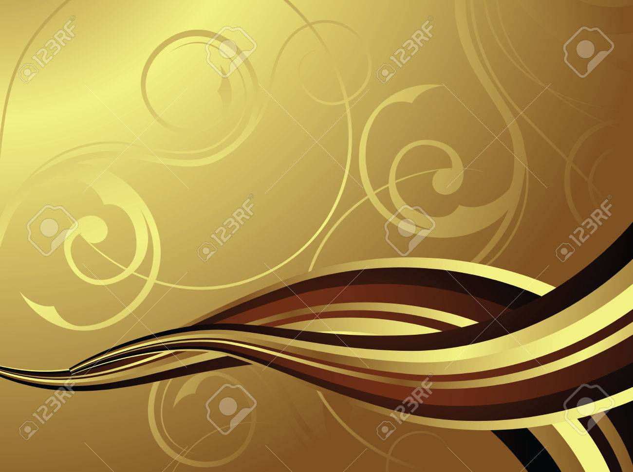 flowing chocolate or coffee Stock Vector - 3107483