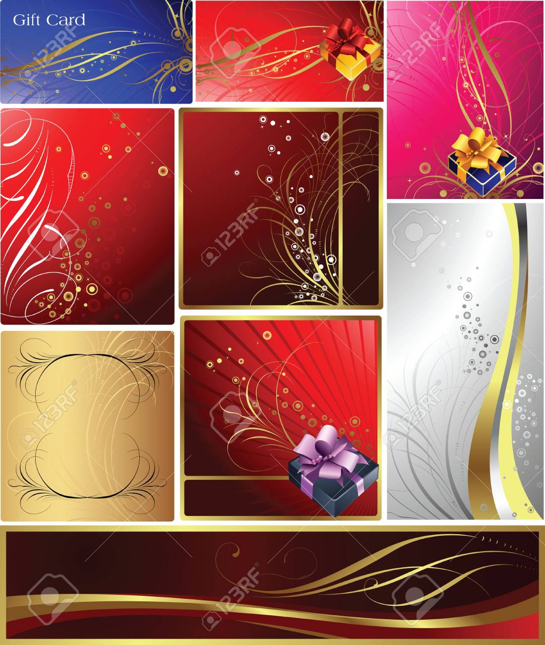 Gift and Banner Stock Vector - 3301287