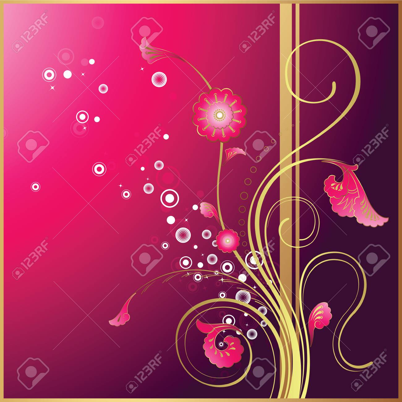 Floral Background Stock Vector - 3317540