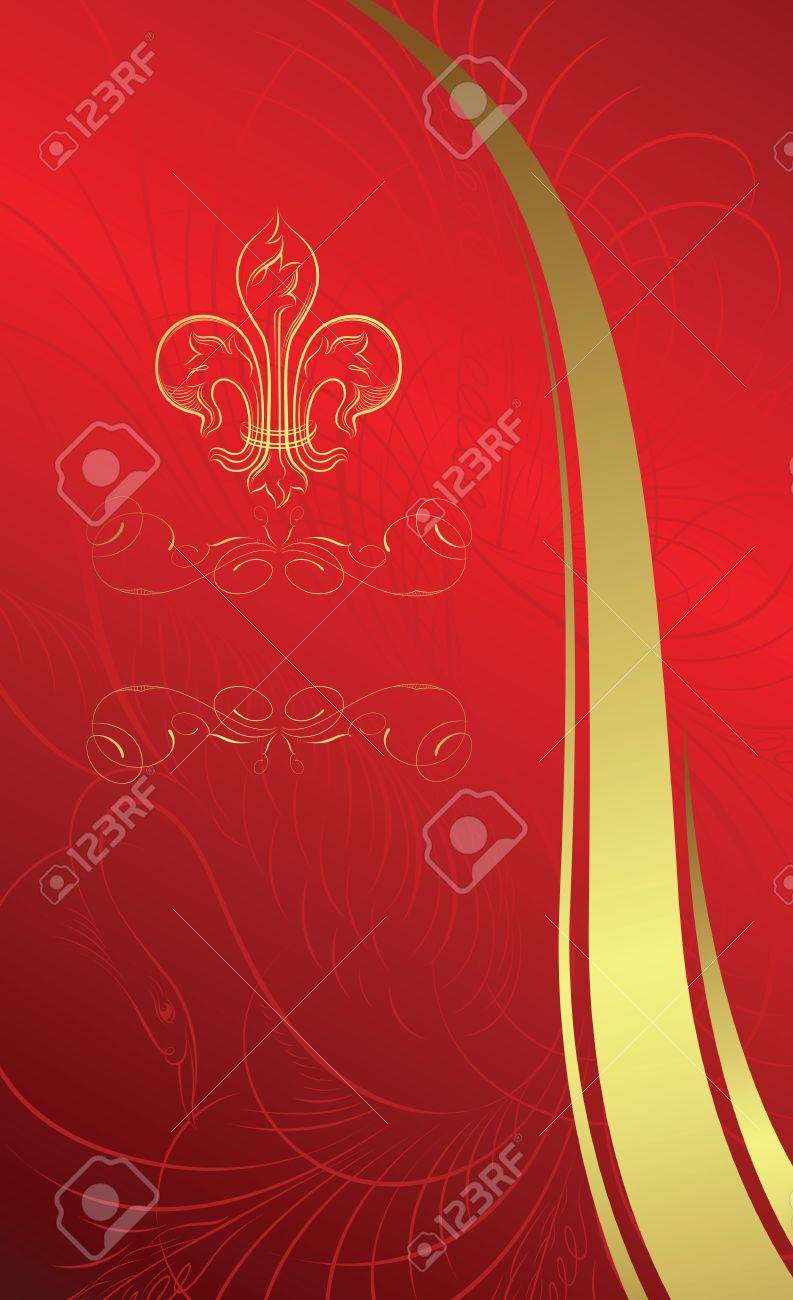 classic design background with emblem Stock Vector - 3544484