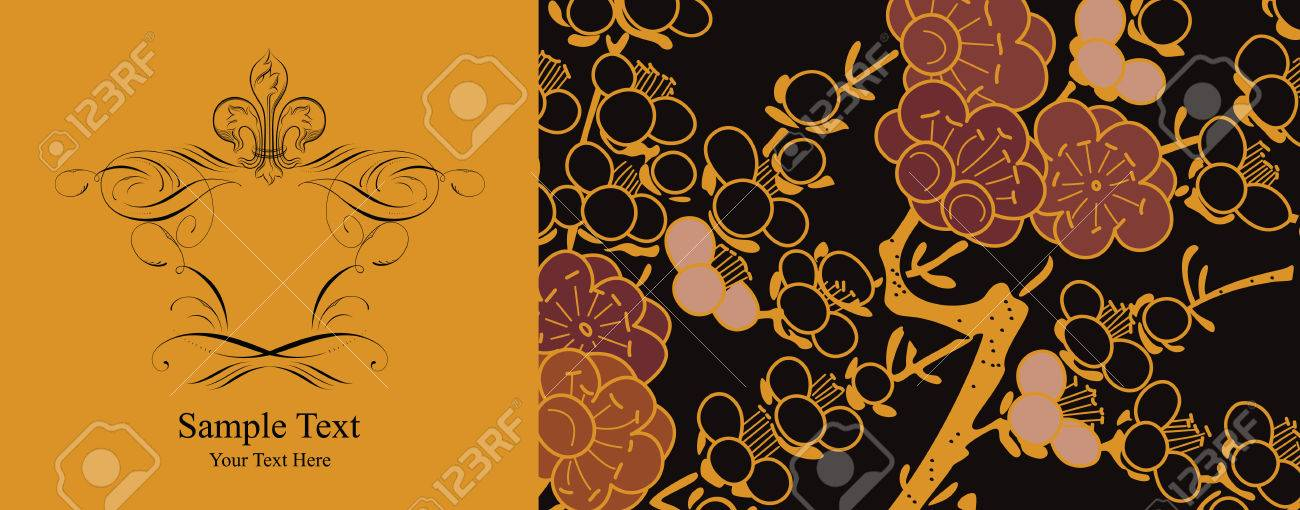 japanese floral background Stock Vector - 3677477