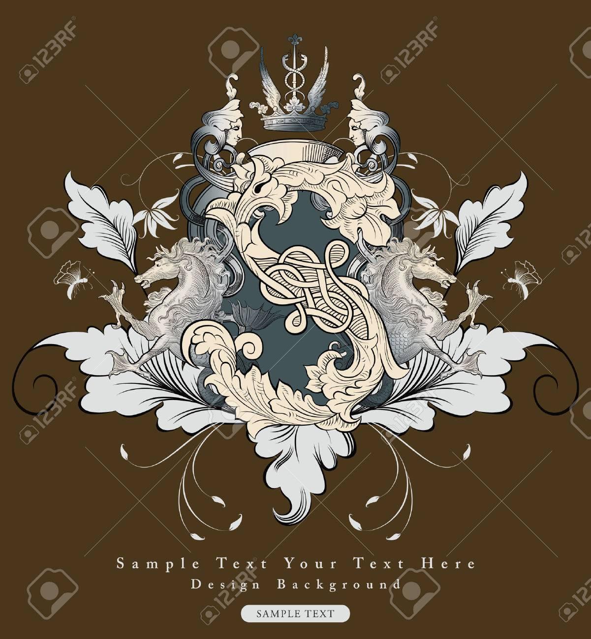 vintage floral design background Stock Vector - 3771331