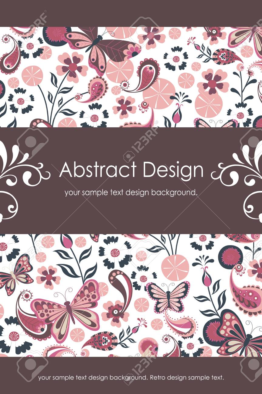 Floral Abstract Background 1-5 Stock Vector - 4933654