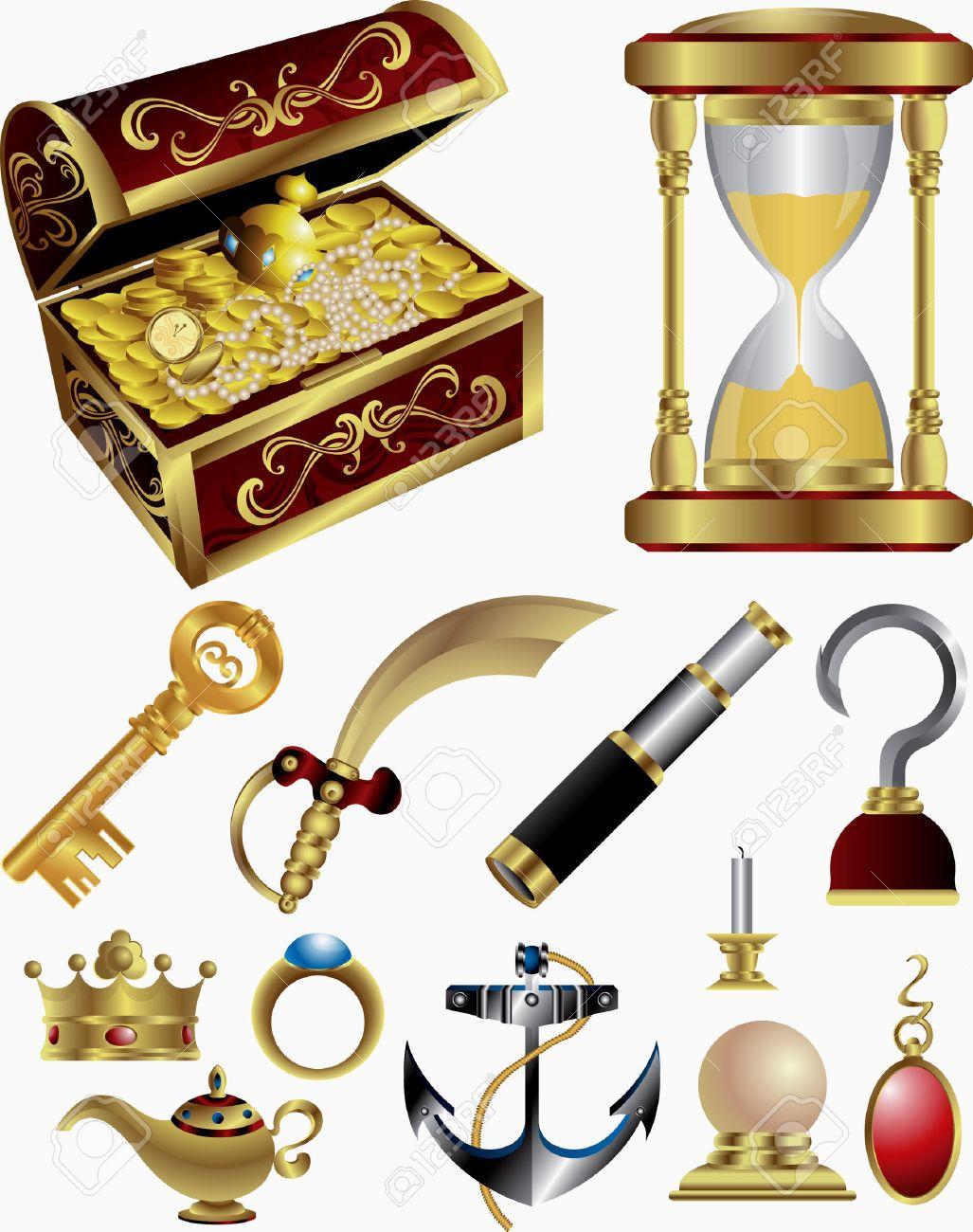 Treasure Fairy Tale Elements Stock Vector - 5170947