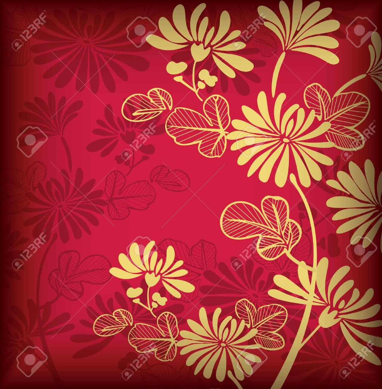 Asia Floral Background for Holidays - 6708333