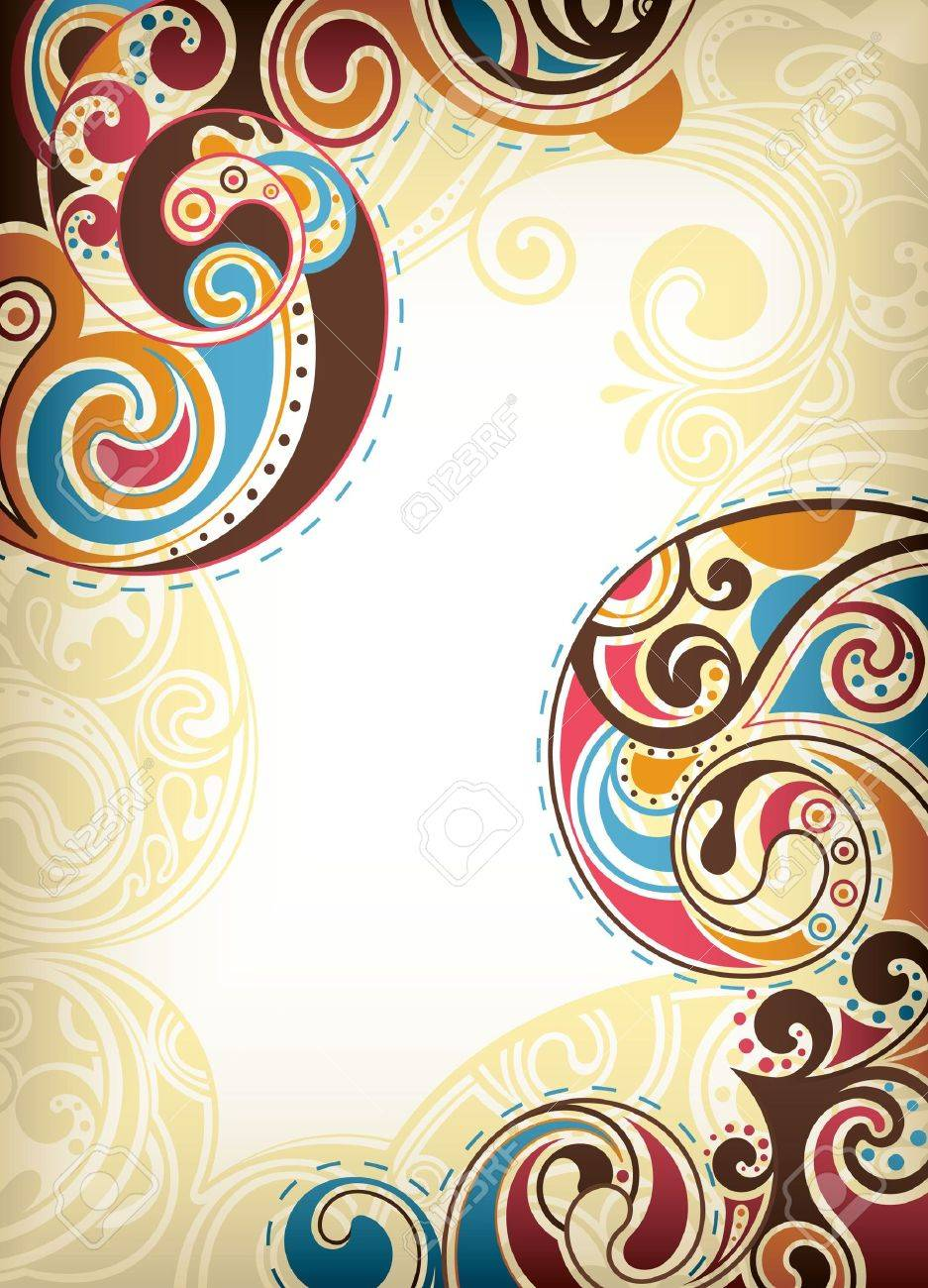 Abstract Colorful Scroll Stock Vector - 9211775