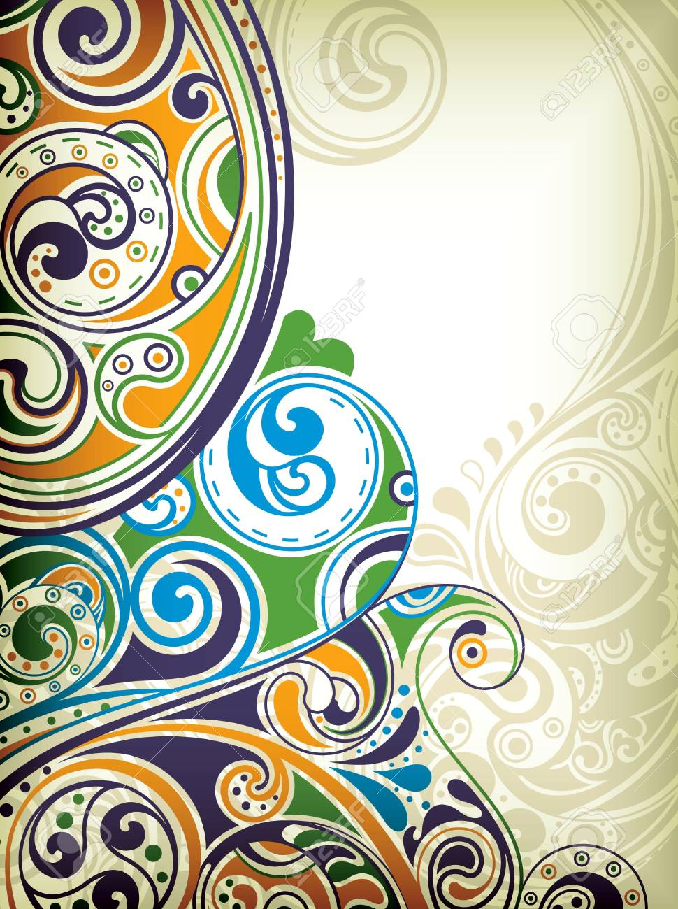 Abstract Scroll Stock Vector - 9211777