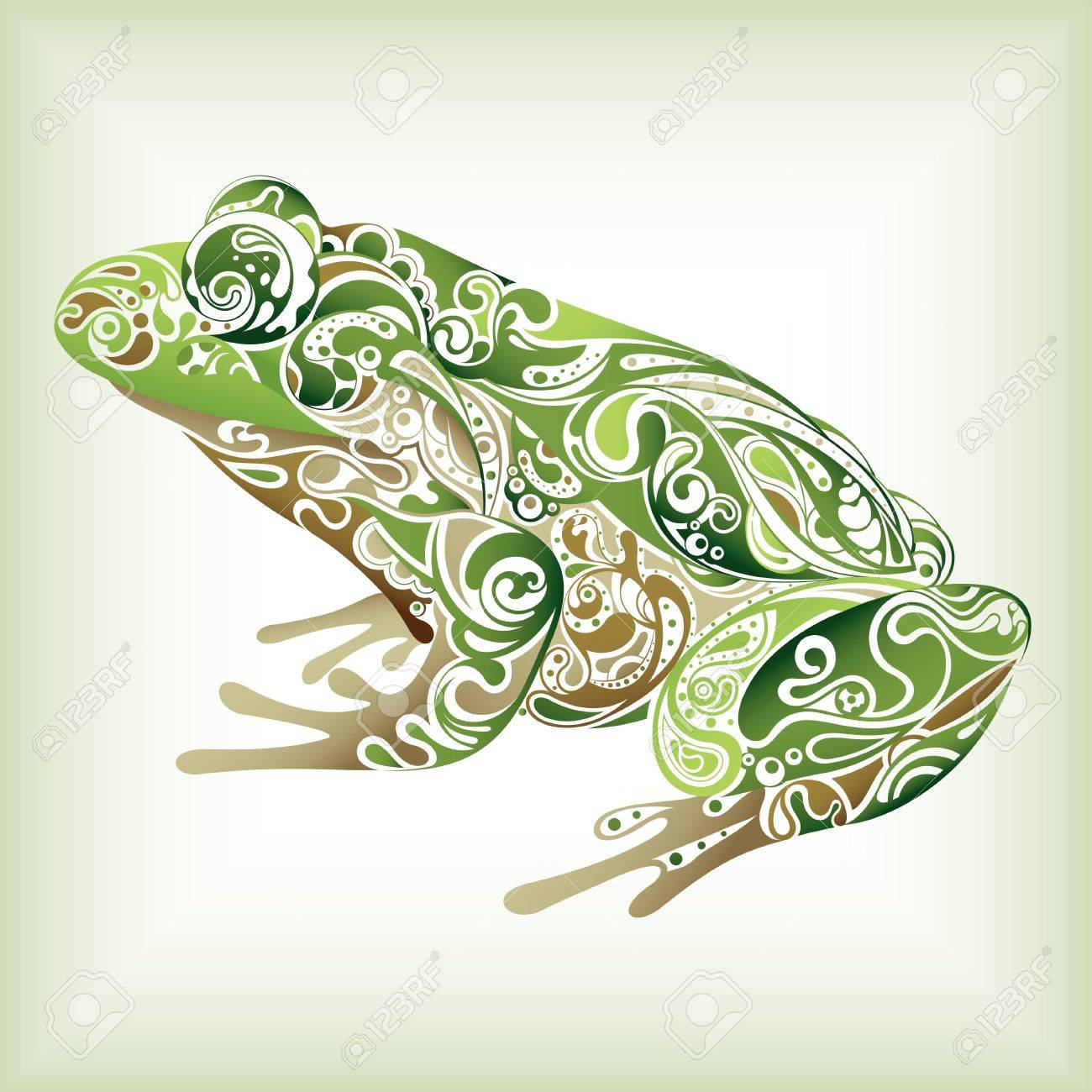 Abstract Frog Stock Vector - 12917604