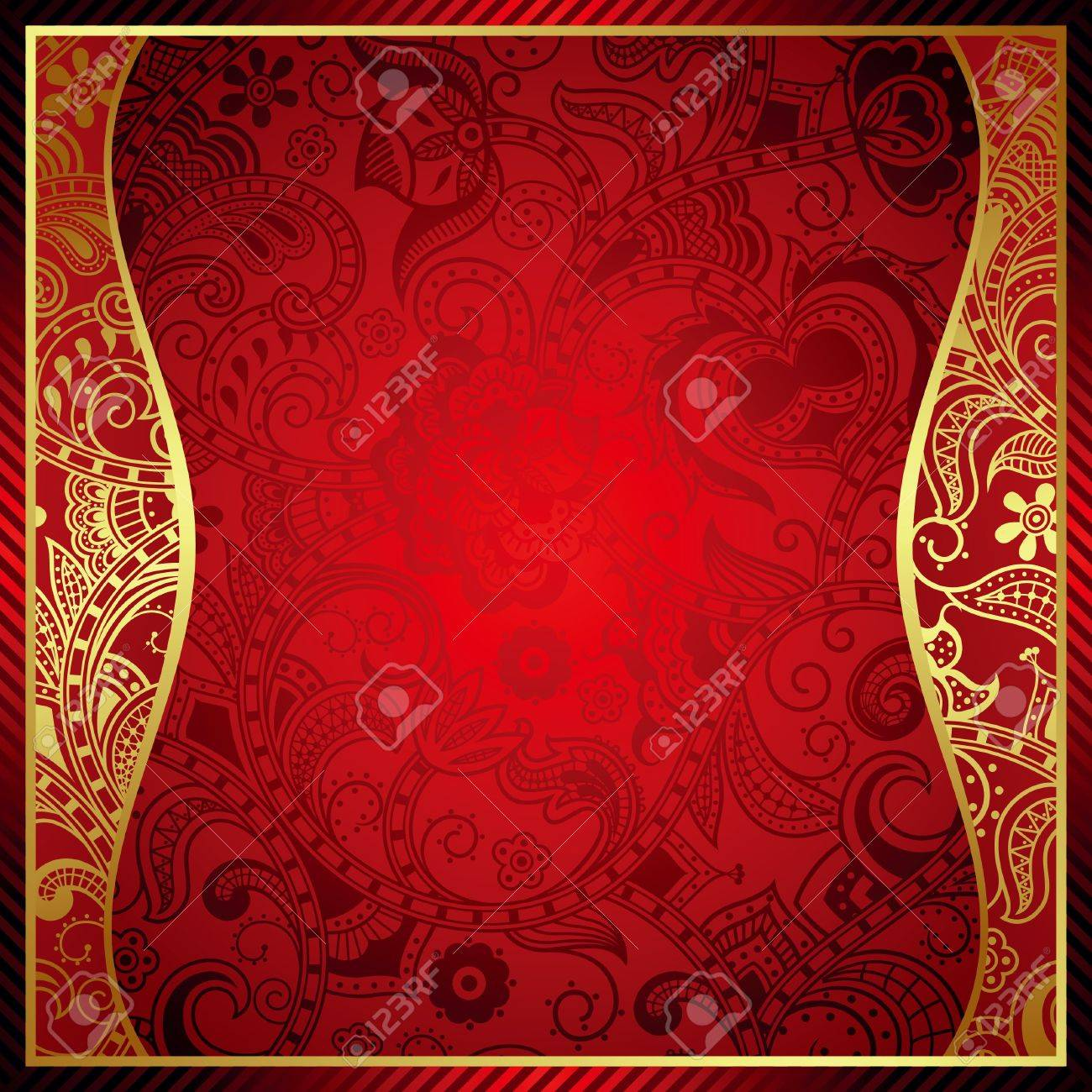 Abstract Red Frame Background Royalty Free Cliparts, Vectors, And ...