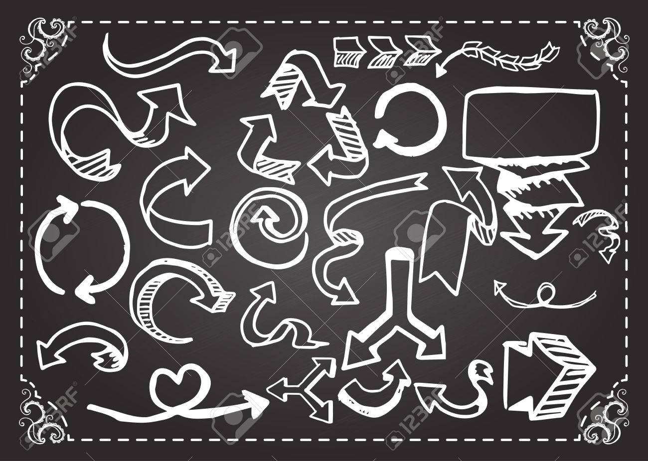 arrows on chalkboard royalty free cliparts vectors and stock