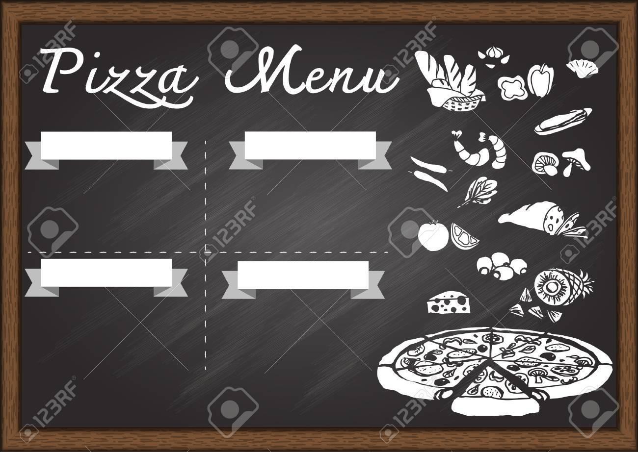menu writing template