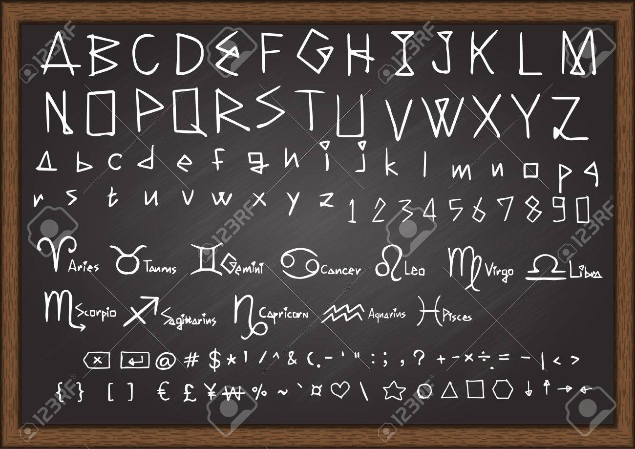 Hand Drawn Fonts Uppercase Letterslowercase Lettersnumbers