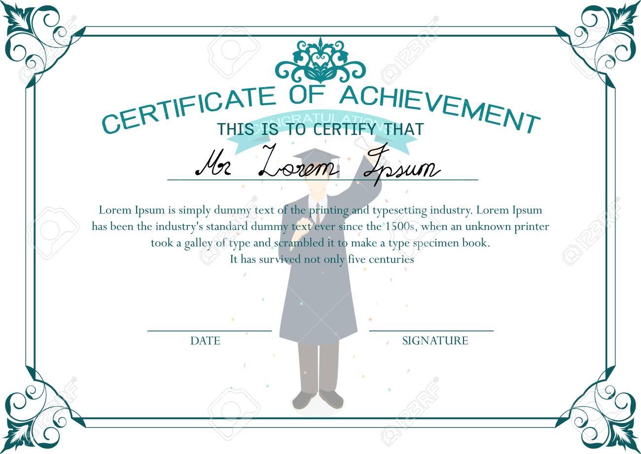 Certificate Design Template. Certificate Of Achievement. Graduate ...