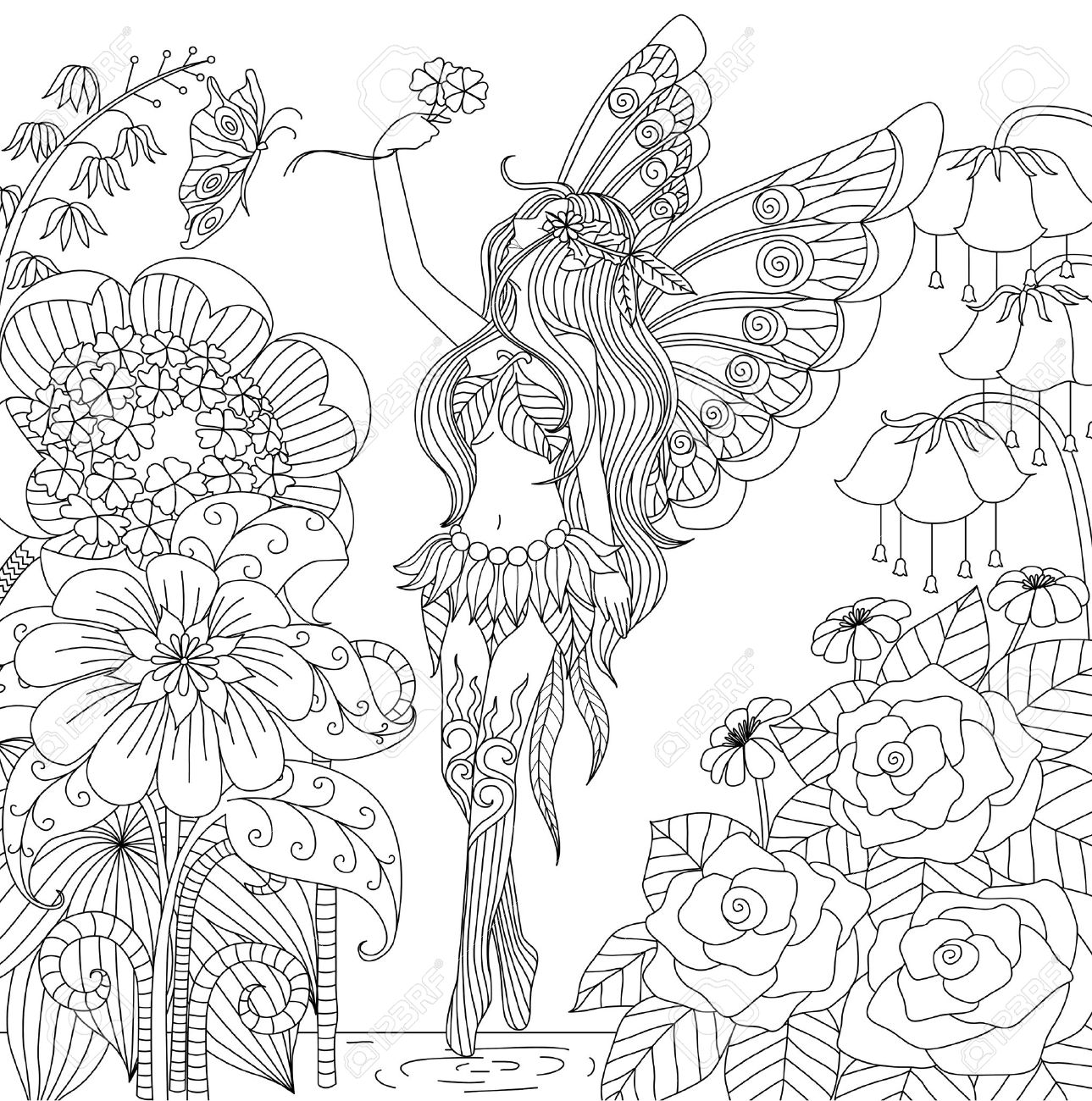 Increíble Flores Para Colorear Libros Bosquejo - Dibujos Para ...