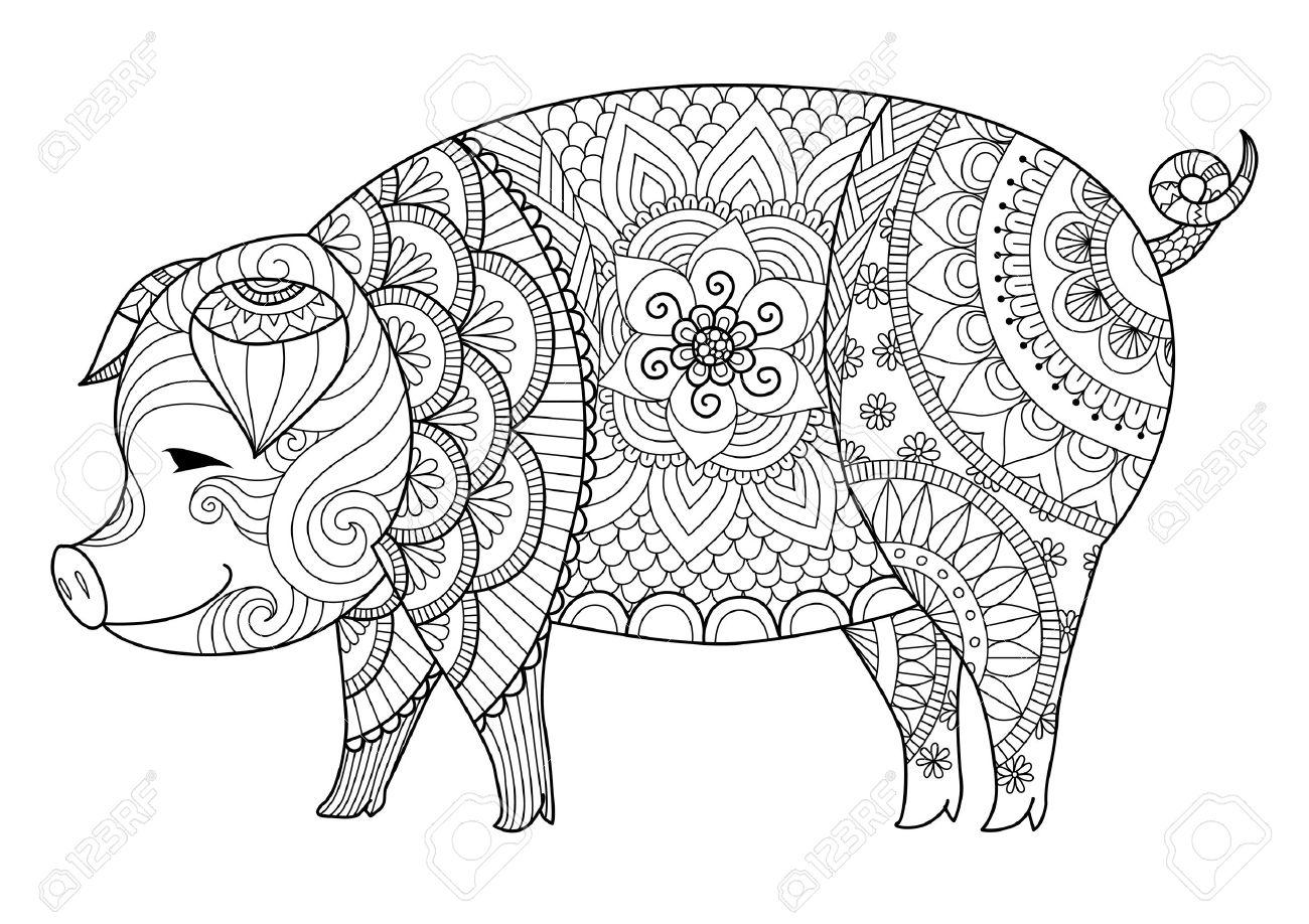 Dibujos De Cerdos Para Colorear. Dibujos Infantiles De Granja Para ...