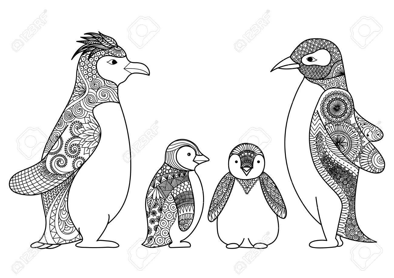 Fantástico Pingüinos Para Colorear Imprimibles Cresta - Dibujos Para ...