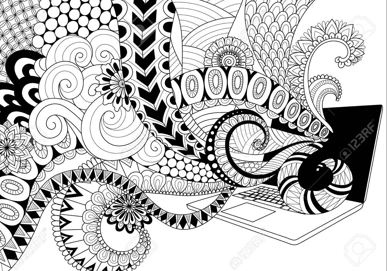 Line Art Laptop : Set laptop tablet and mobile phone of realistic clip art