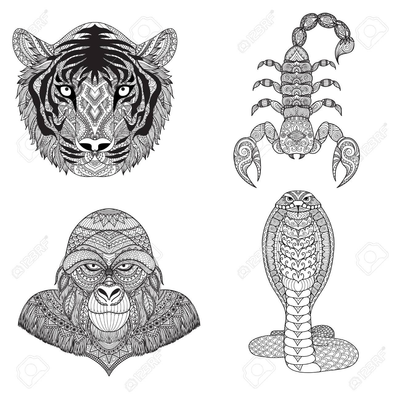 Ungewöhnlich Tiger Malbuch Seiten Ideen - Malvorlagen Von Tieren ...