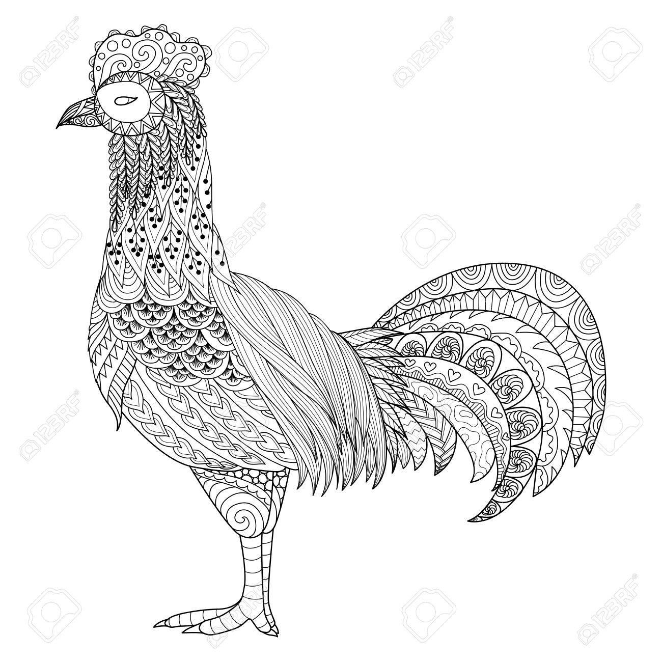 Contemporáneo Pollo Correr Para Colorear Ornamento - Enmarcado Para ...