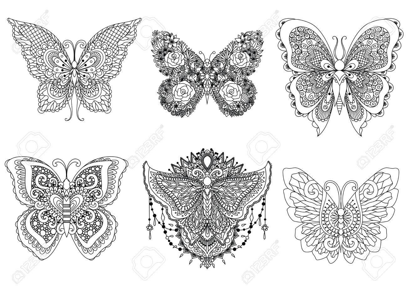Atemberaubend Schmetterling Färbung Seite Bilder ...