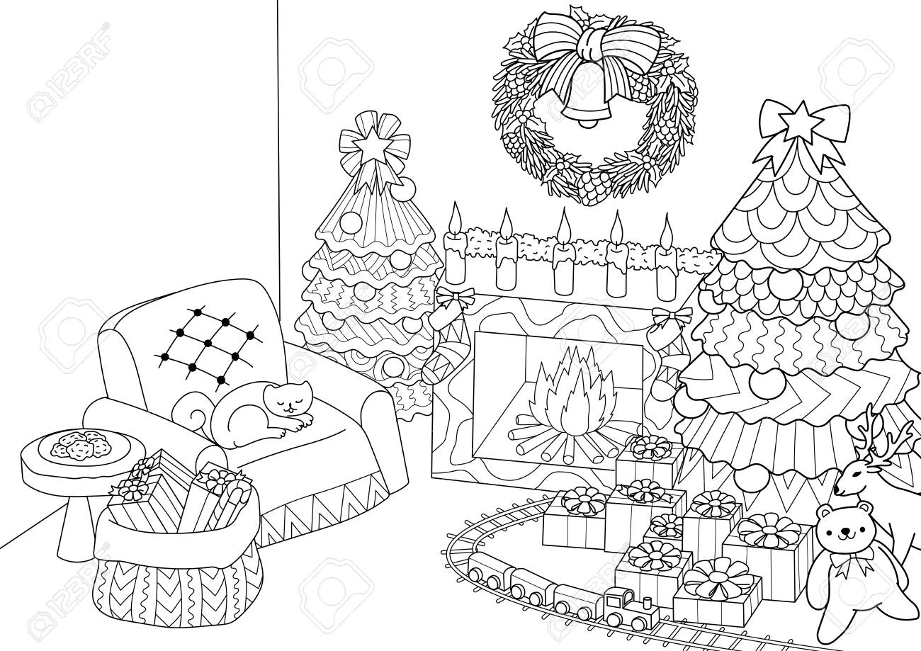 Printable Christmas Coloring Page - Jingle Bells | Printable ... | 919x1300