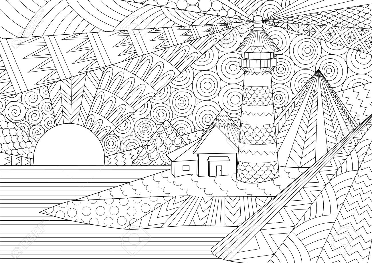 Coloring Page. Coloring Book for adults. Colouring pictures of..