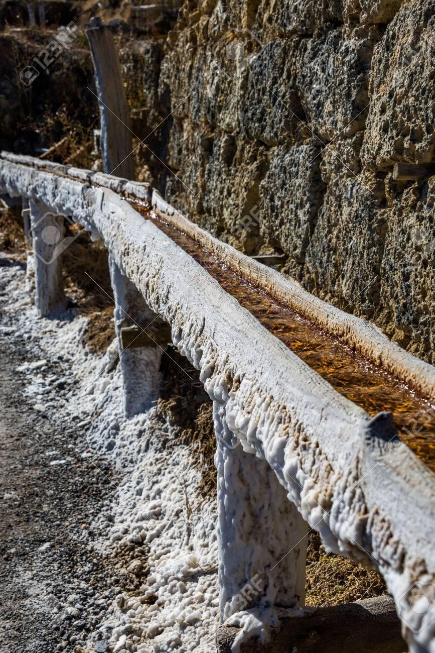 Salt valley of Anana, Añana, old salt mine from Alava, Basque Country, Spain - 79076824