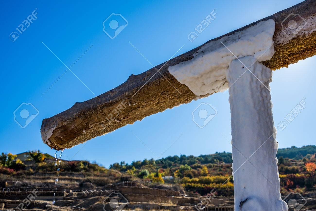 Salt valley of Anana, Añana, old salt mine from Alava, Basque Country, Spain - 79152995