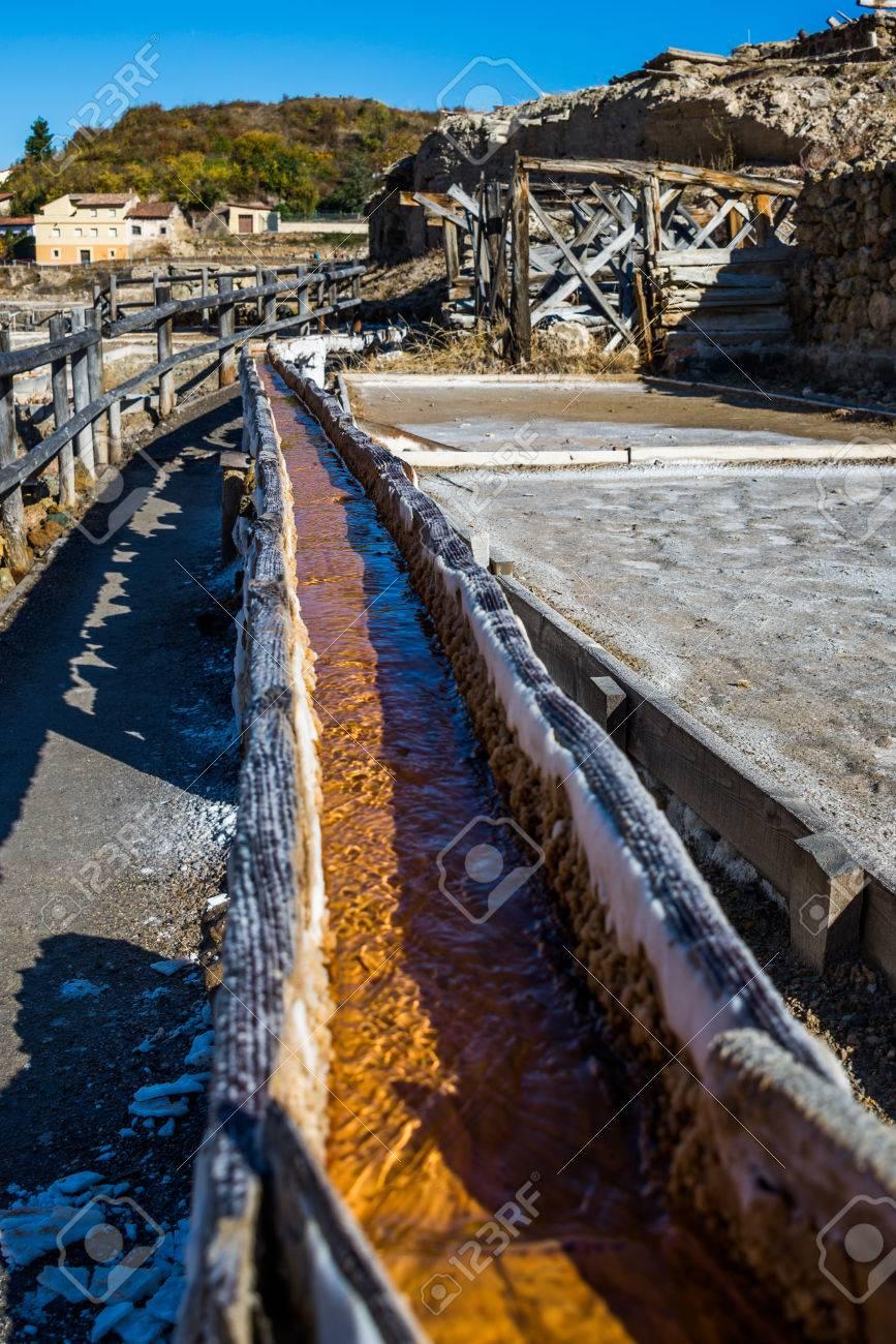 Salt valley of Anana, Añana, old salt mine from Alava, Basque Country, Spain - 79153000