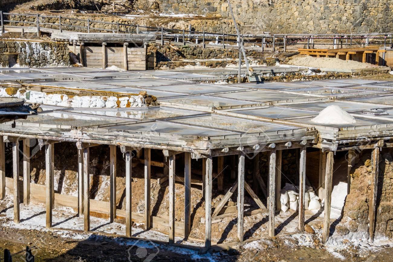 Salt valley of Anana, Añana, old salt mine from Alava, Basque Country, Spain - 79153002