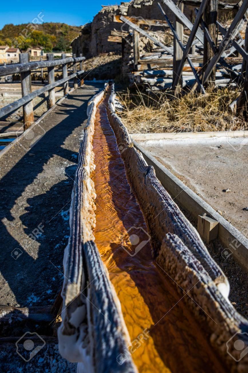 Salt valley of Anana, Añana, old salt mine from Alava, Basque Country, Spain - 79374414