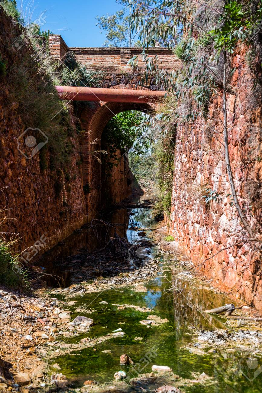 Minas of Río Tinto (formerly British mining), Andalusia, Spain. - 92353119