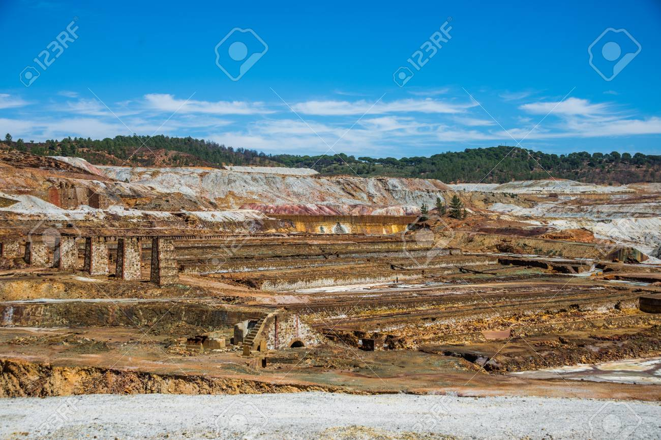 Minas of Río Tinto (formerly British mining), Andalusia, Spain. - 92716255