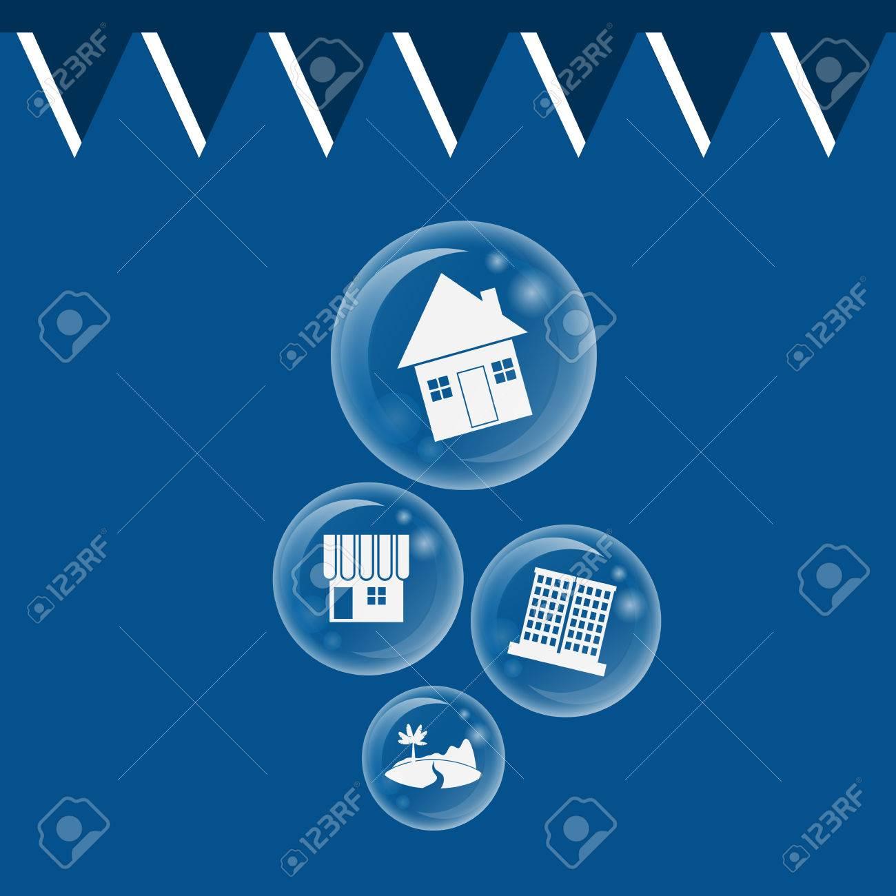 real estate bubble burst for Economic Bubble concept