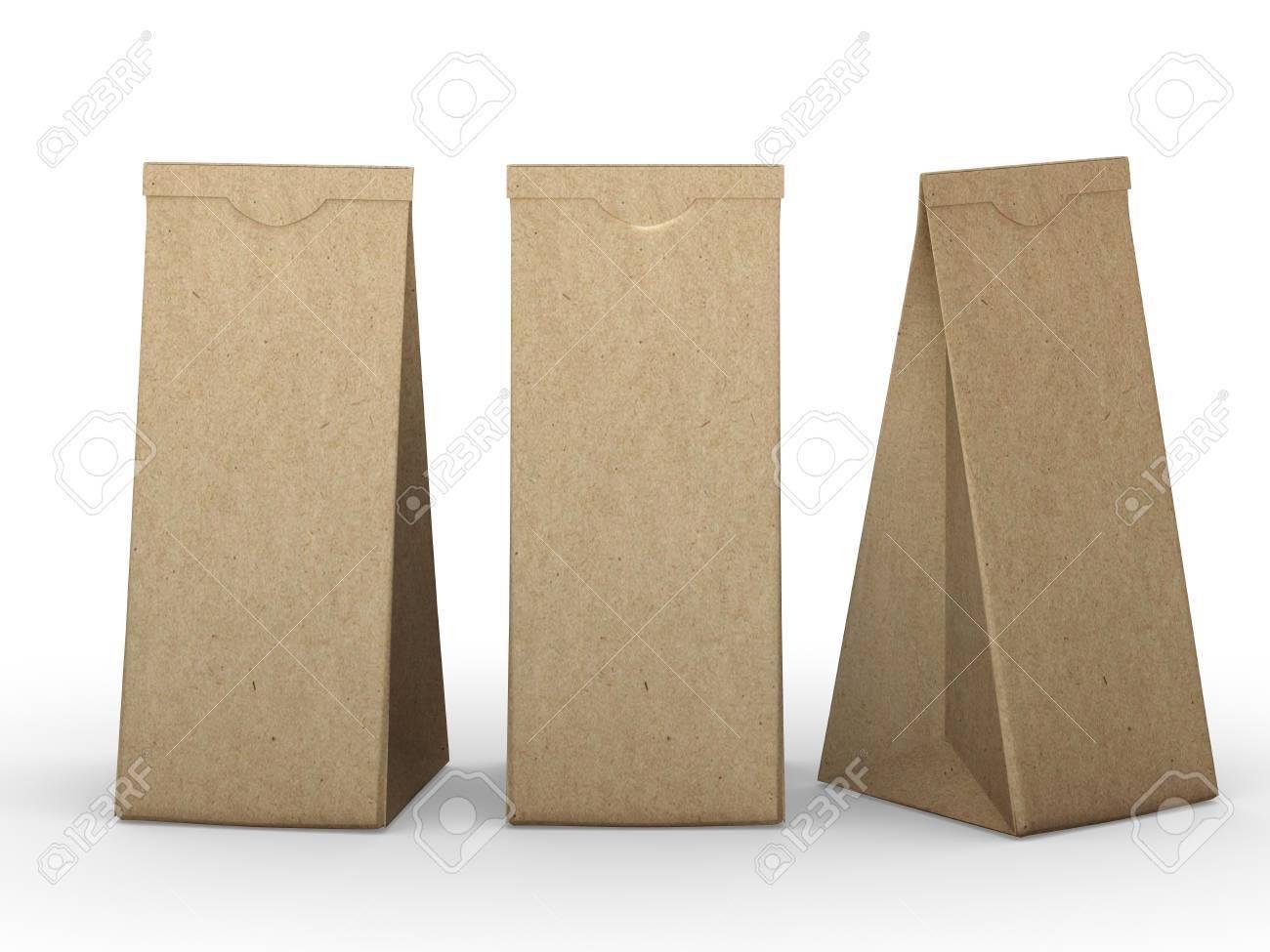 De Papieren Zak : Brown gevouwen papieren zak verpakkingen voor voedsel snack of