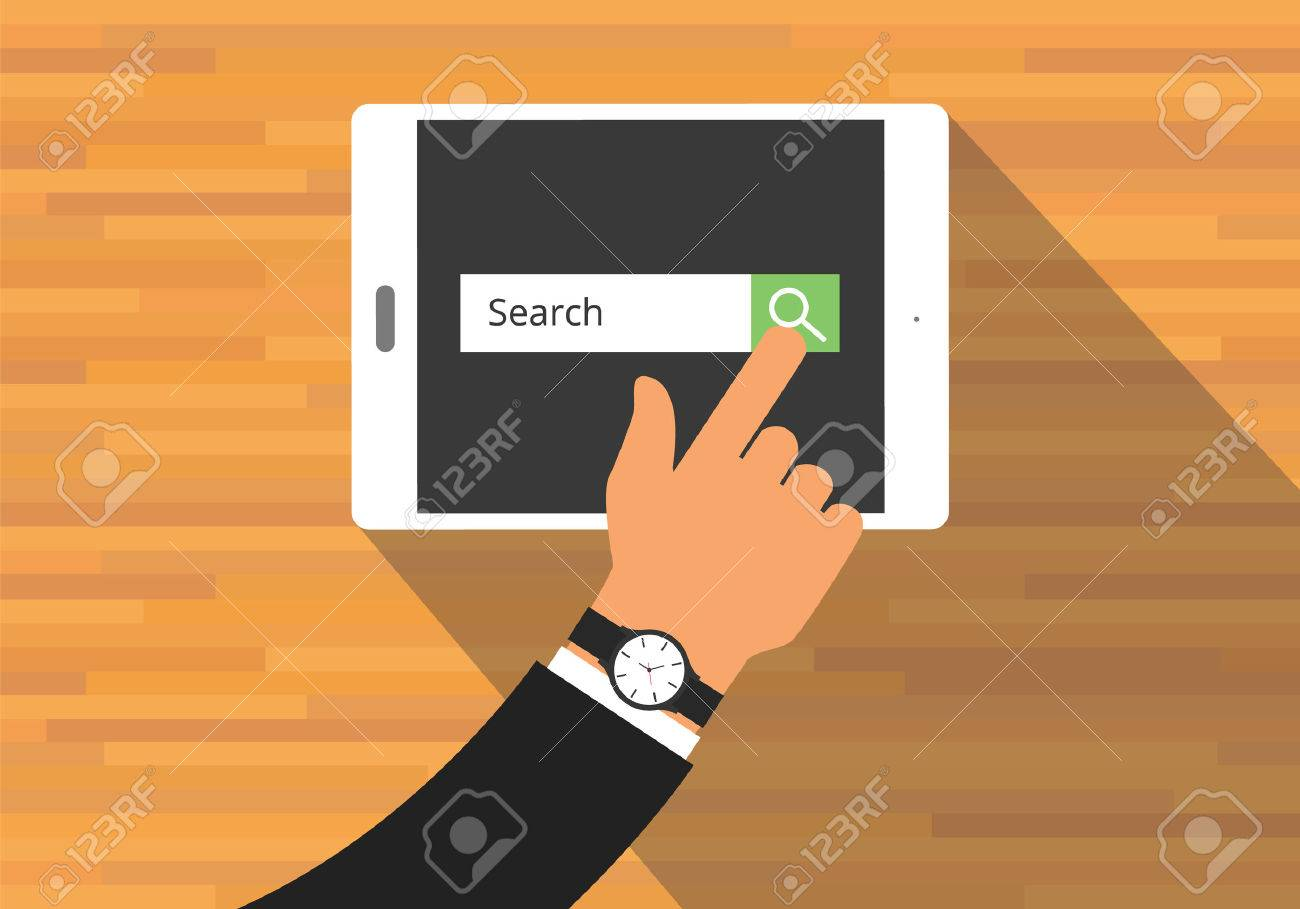 searching concept use tab or pad mobile platform - 47519400