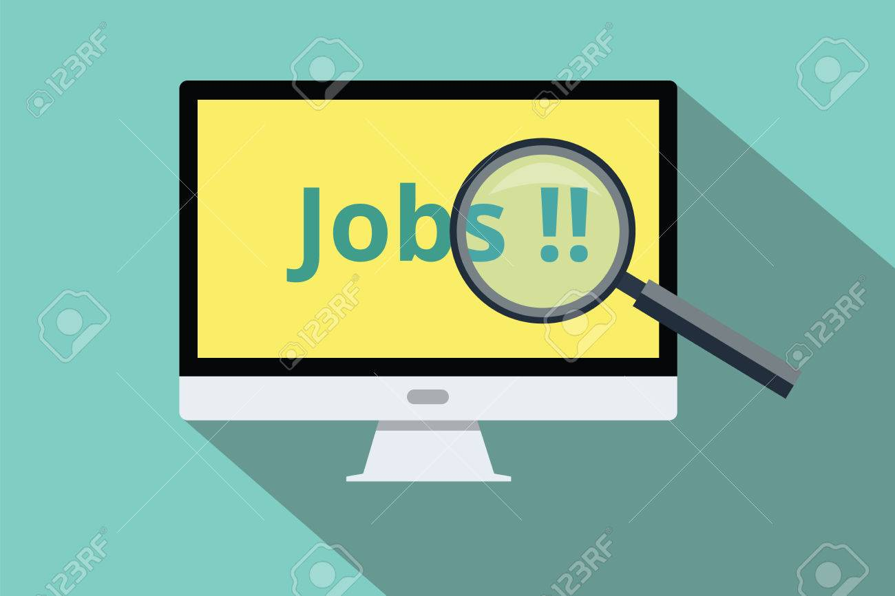 search and online jobs use computer royalty cliparts vector search and online jobs use computer