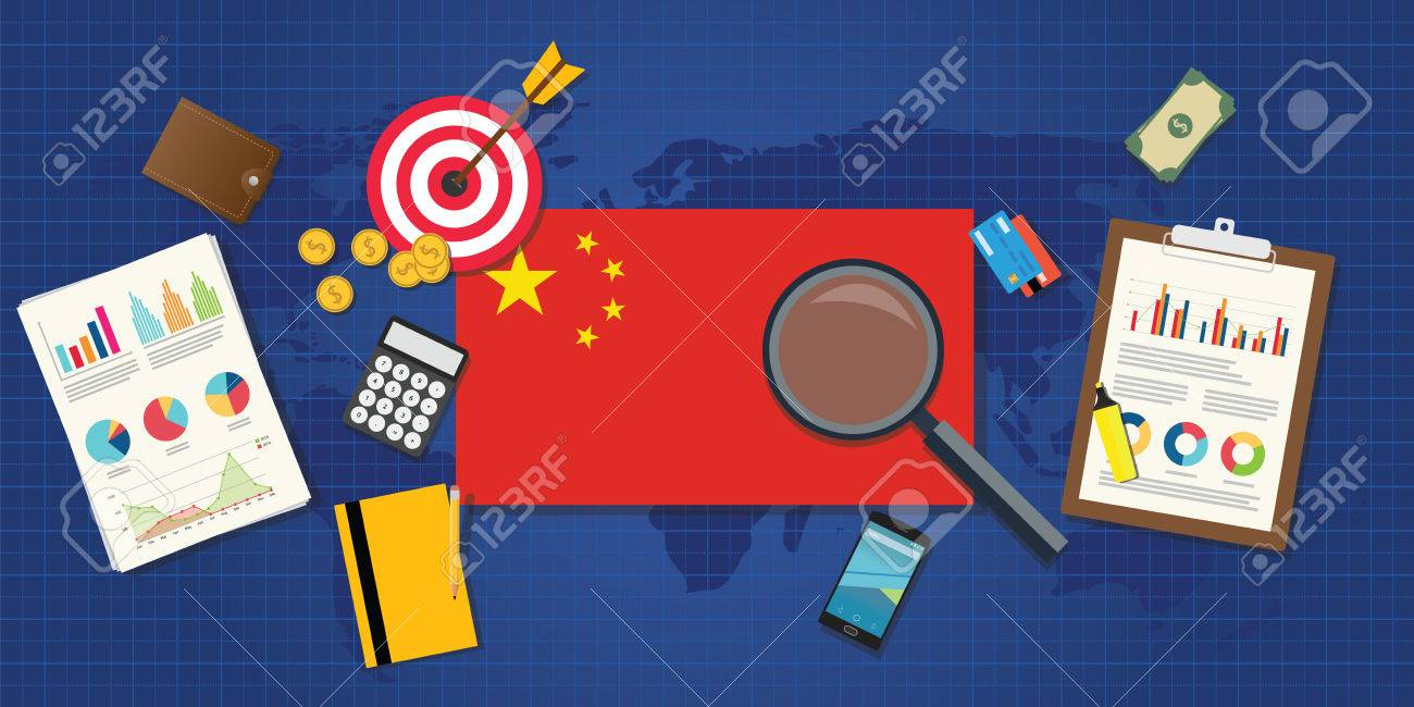 china economy economic rising with good chart and graph and good target - 48077471