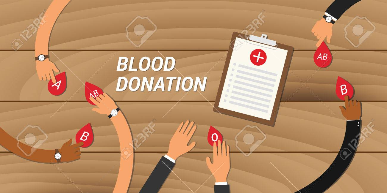 blood donation concept people give their blood to other people - 51369315