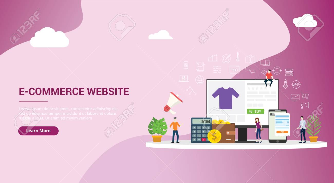 Website Landing Page Design Ui Ux Interface E Commerce Online