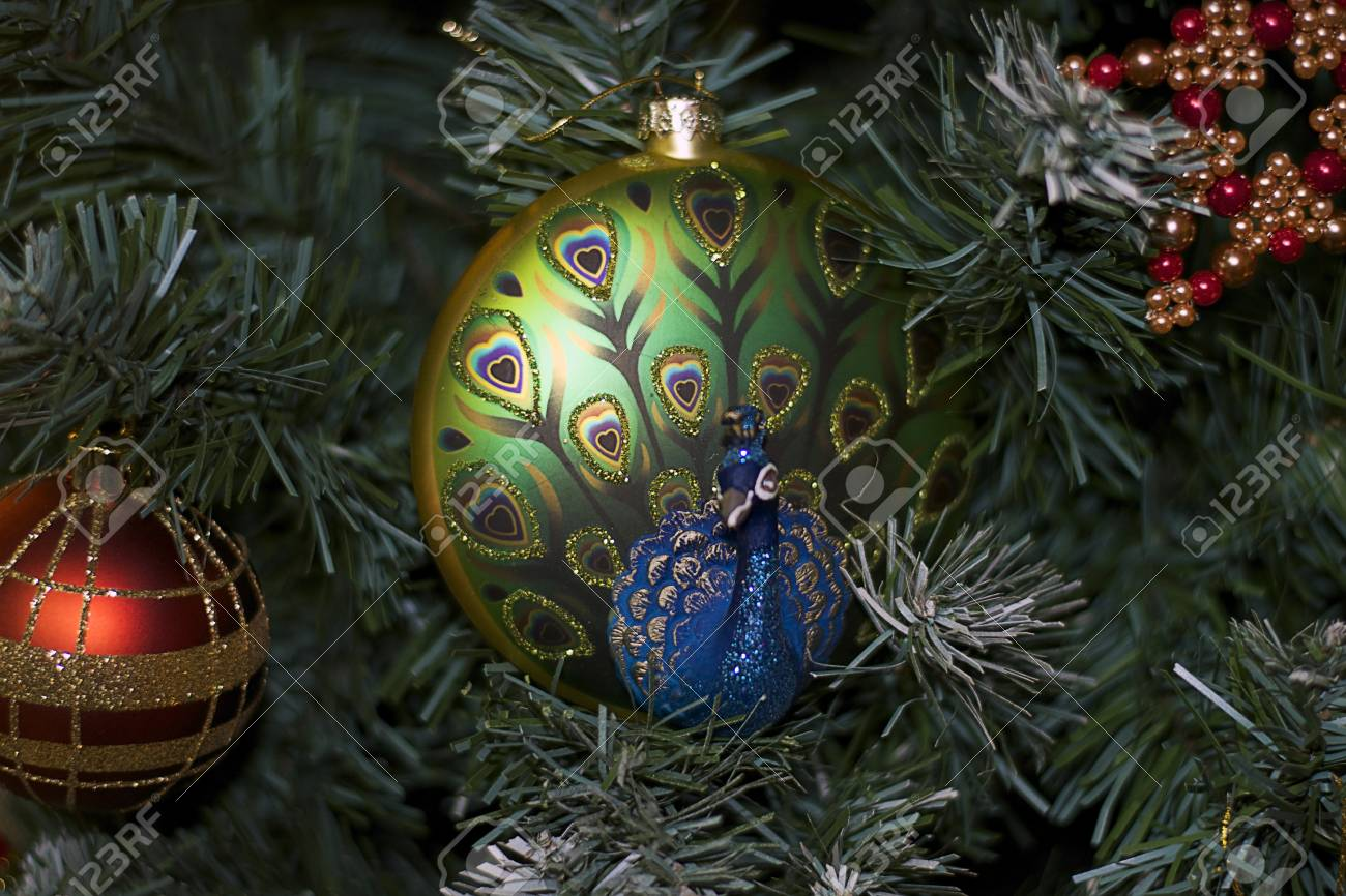 nice colorful christmas decorations stock photo 92464686