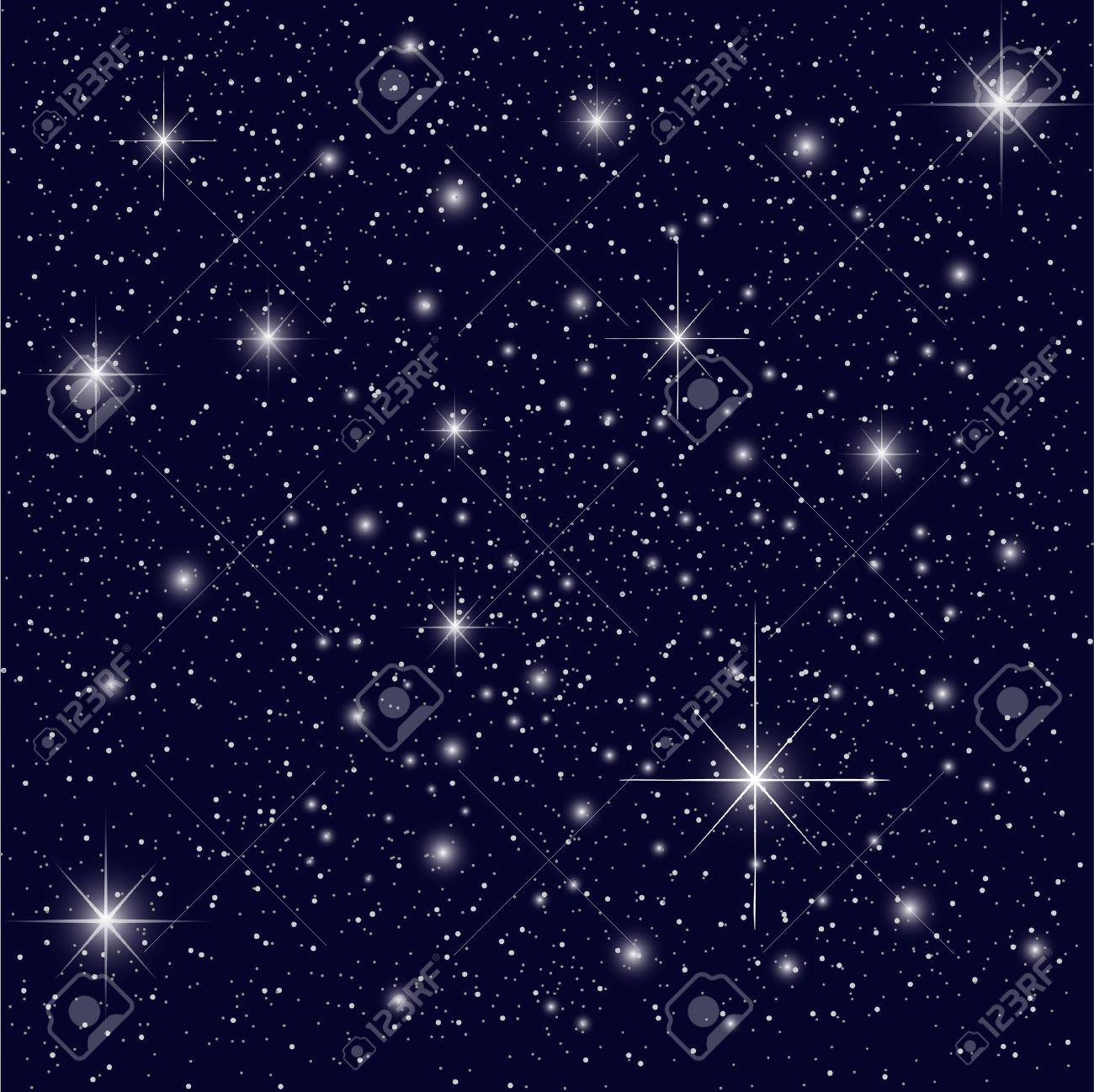 Night Sky with Stars Stock Vector - 3283129