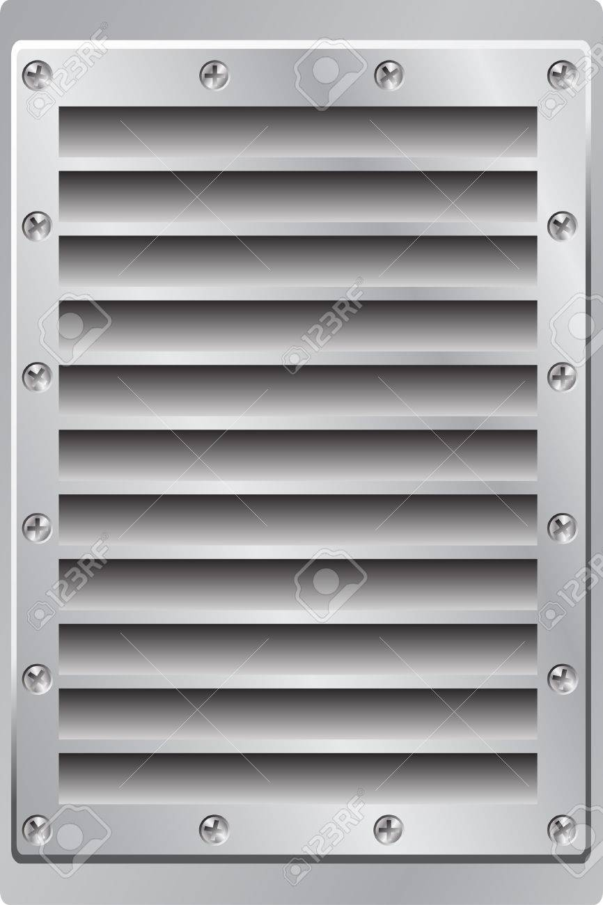 A Metal Background Air Vent with Screws Stock Vector - 3719717