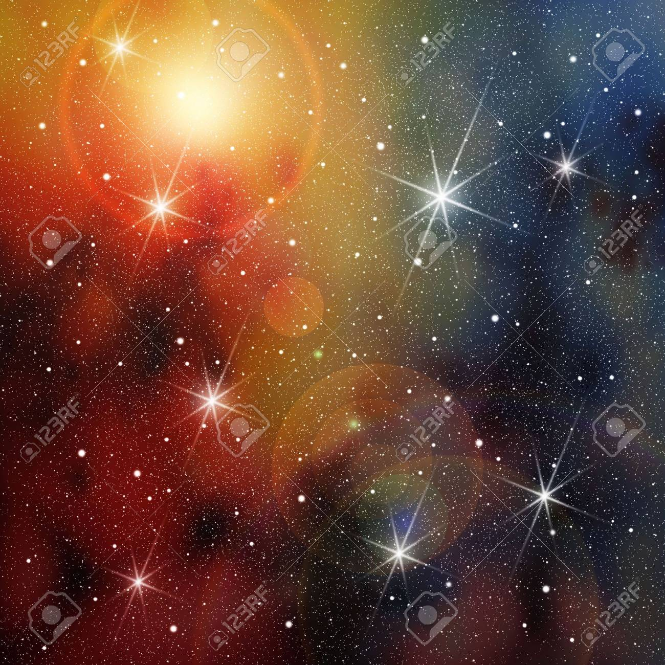 Cosmic Space with lots of Stars Stock Photo - 4174227