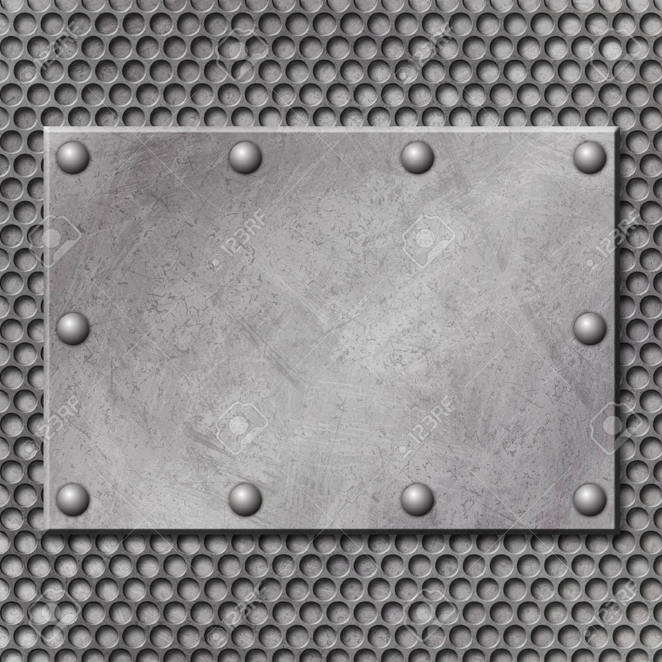 A Grunge Metal Background with Mesh Stock Photo - 5953722