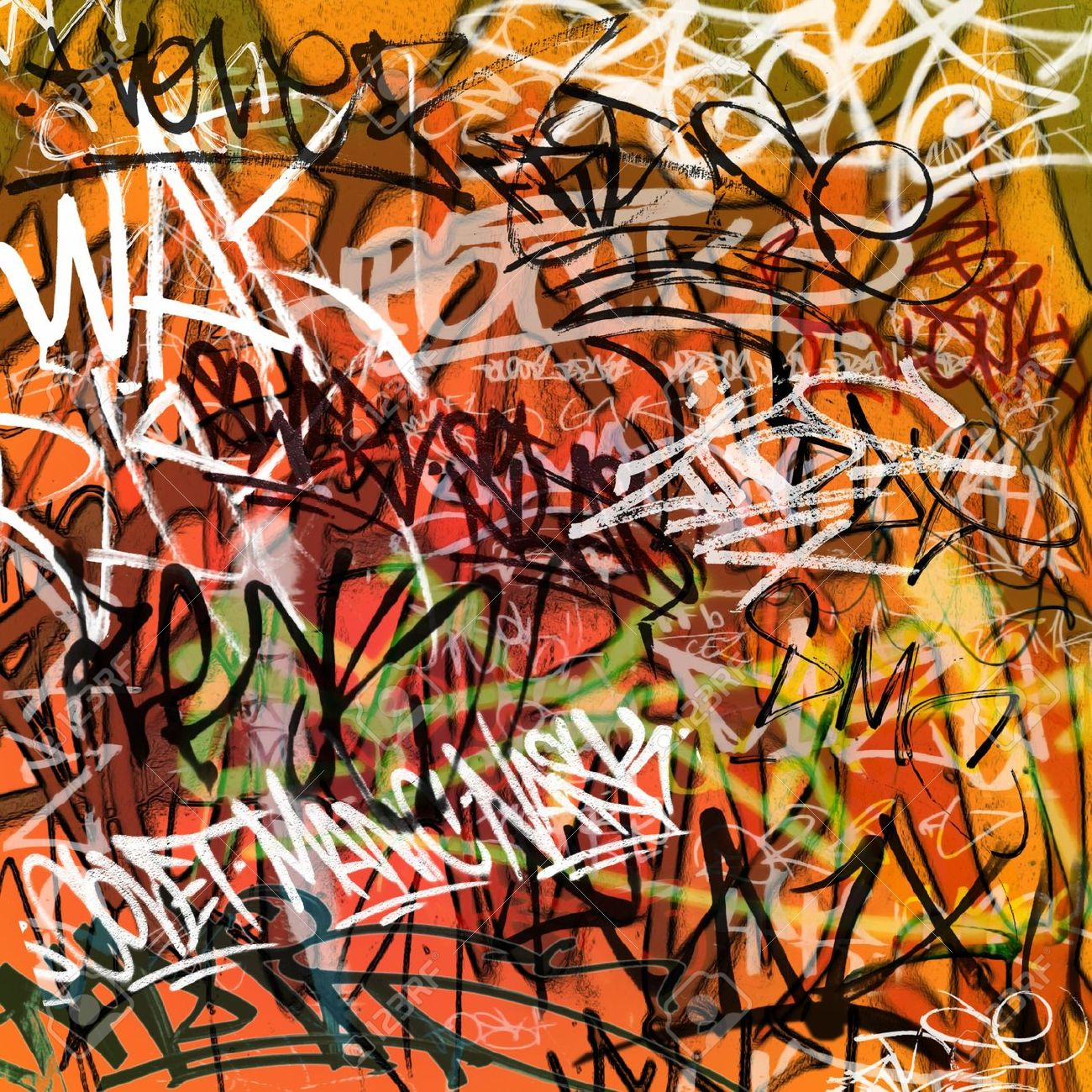 Grafitti wall background - Graffiti Background A Messy Graffiti Wall Background