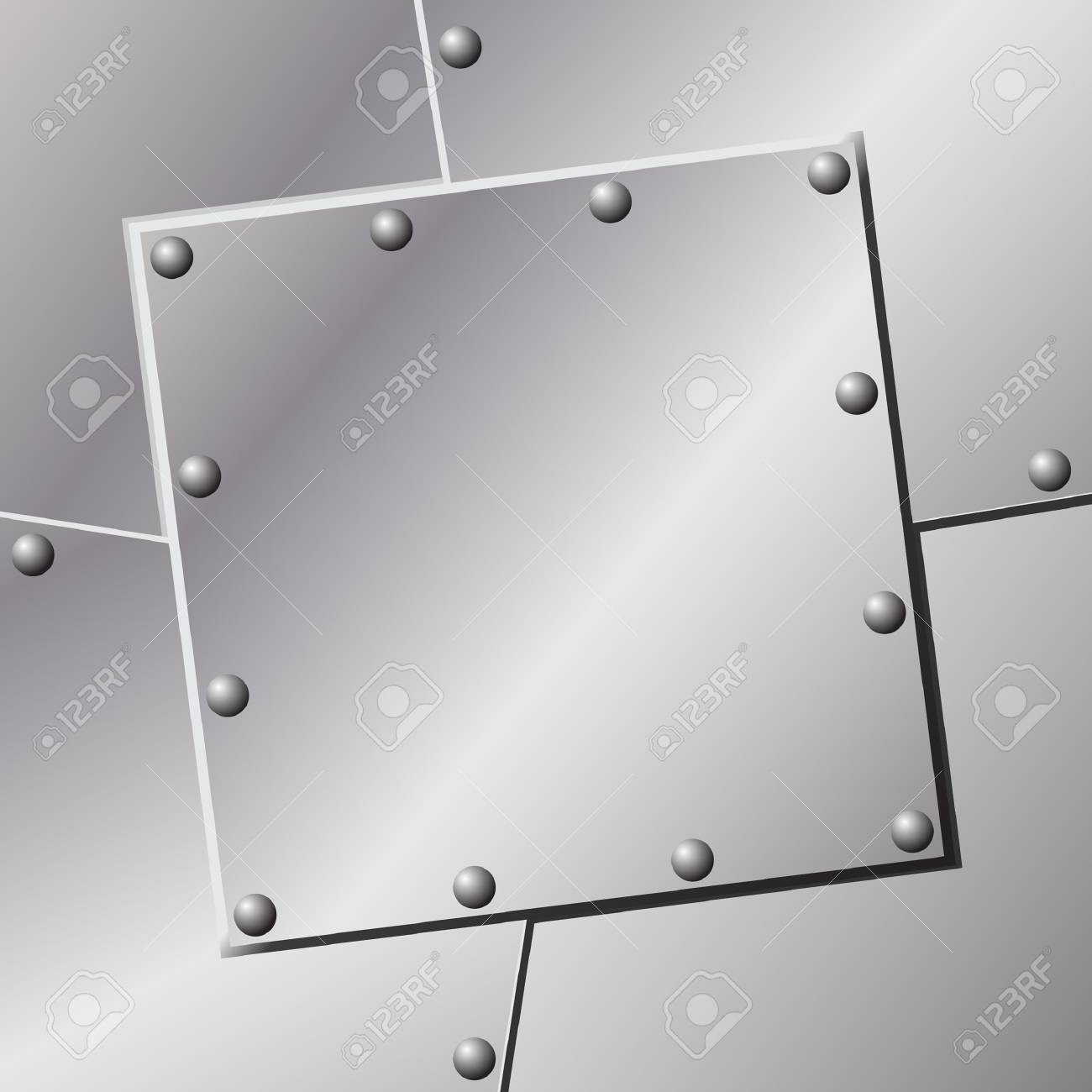 A Metal Background with Rivets Stock Vector - 7124700