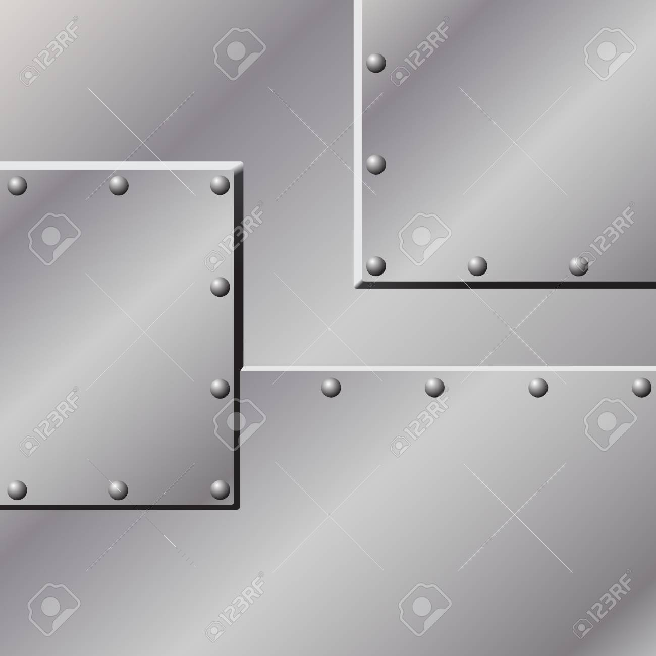 A Metal Background with Rivets Stock Vector - 7256400