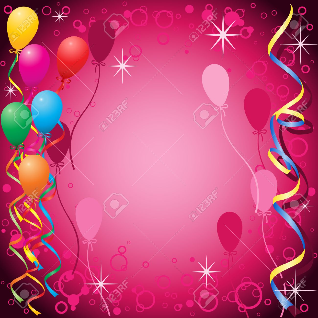 party background with balloons and streamers royalty free cliparts