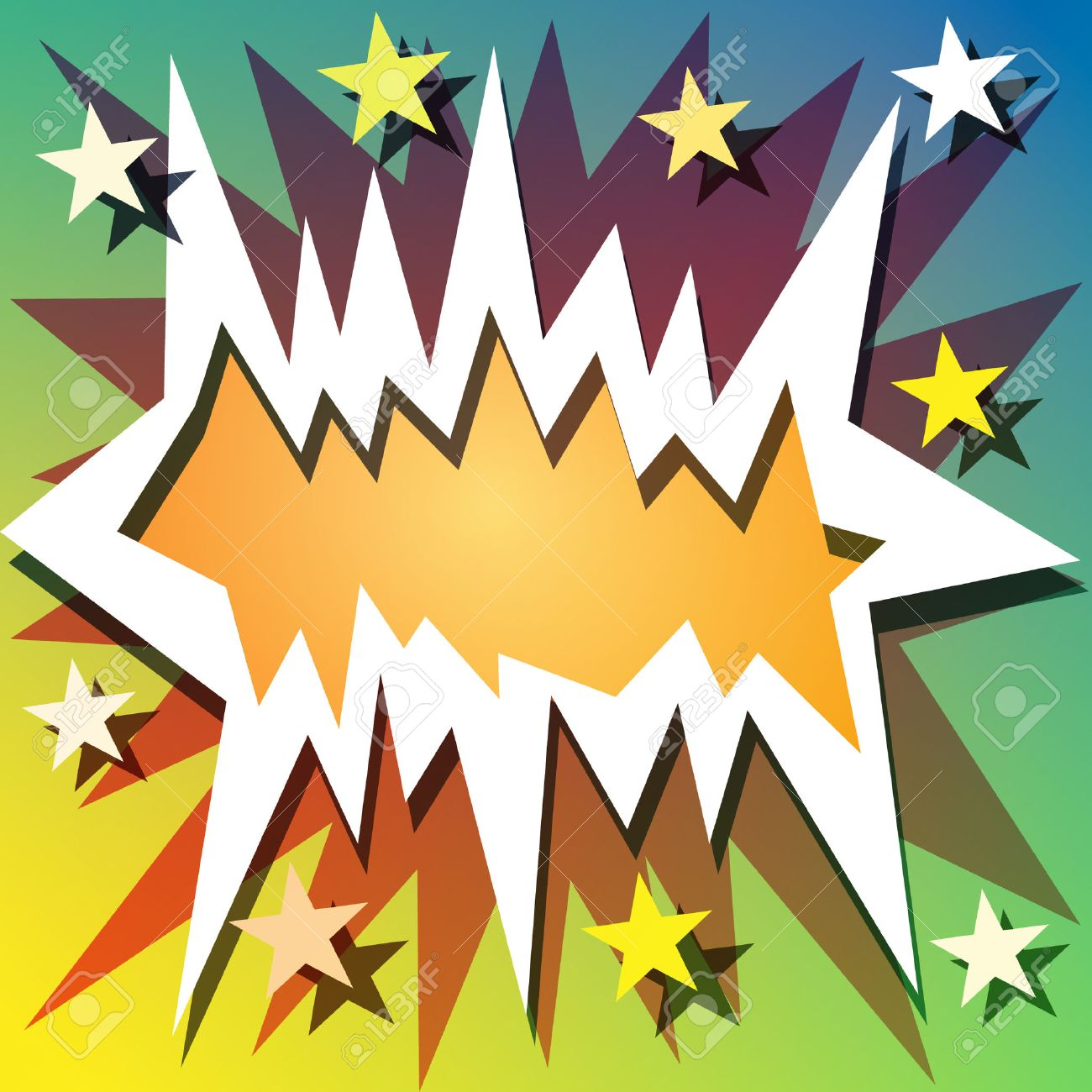 Comic Book Explosion Background with Stars Stock Vector - 8785308